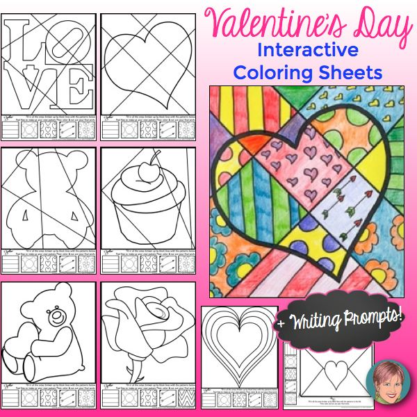 Valentine's Day coloring sheets.