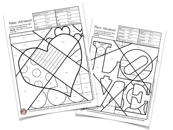 Fun In February. Place Value Coloring Page. Worksheet. Homophones Coloring Worksheet At Mspartners.co