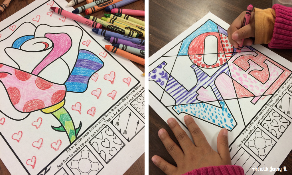 Valentine's Day Coloring Pages • FREE Printable PDF from PrimaryGames | 615x1024