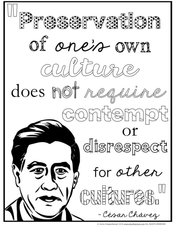 coloring pages about cesar chavez - photo#25