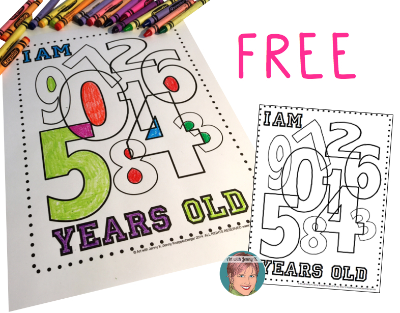 Free coloring sheet for kids to integrate art into the classroom using childrens age.001