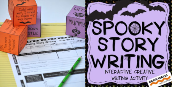 Free Spooky Story Writing activity to do with your students!