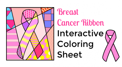 Cancer Ribbon Interactive Coloring Art with Jenny K