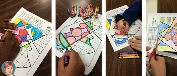 Math Coloring Sheets For The Holidays.