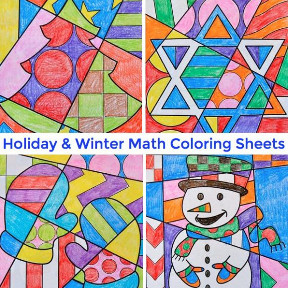 math coloring sheets for major holidays like thanksgiving christmas valentines day and more