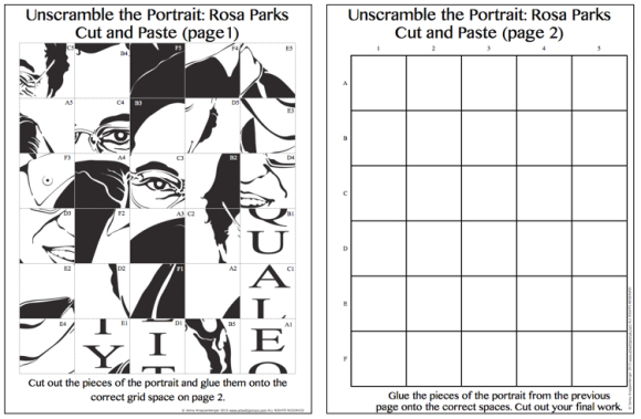 Pop Art Rosa Parks – Printable Art Worksheets
