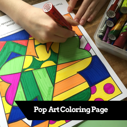 Pop art coloring page for St. Patrick's Day and Limerick writing to create this fun mobile!