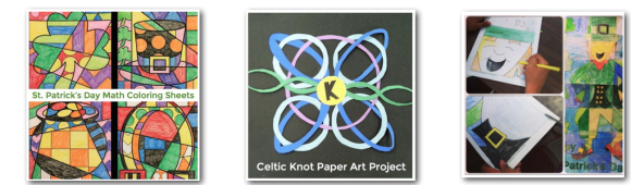 St. Patrick's Day March art activities that are easy for classroom teachers and fun for kids!
