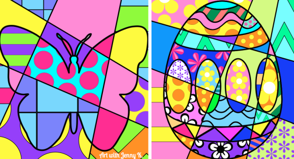Interactive Spring And Easter Coloring Sheets For Kids
