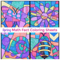 spring math coloring sheets