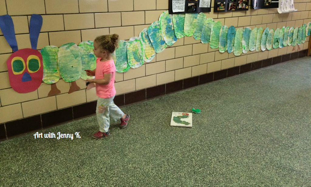 hungry caterpillar art project