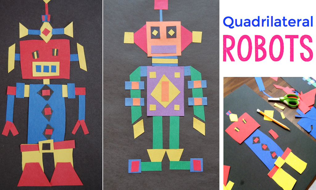 Project based learning with quadrilateral robots.