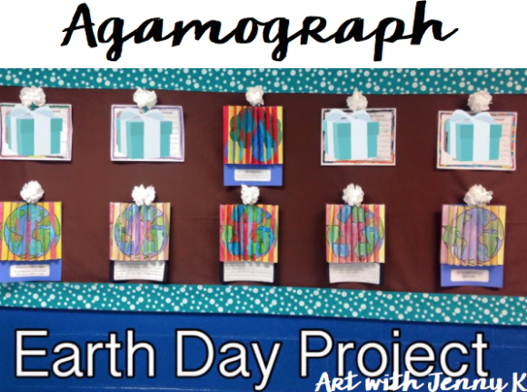 Earth Day Agamograph - Art with Jenny K