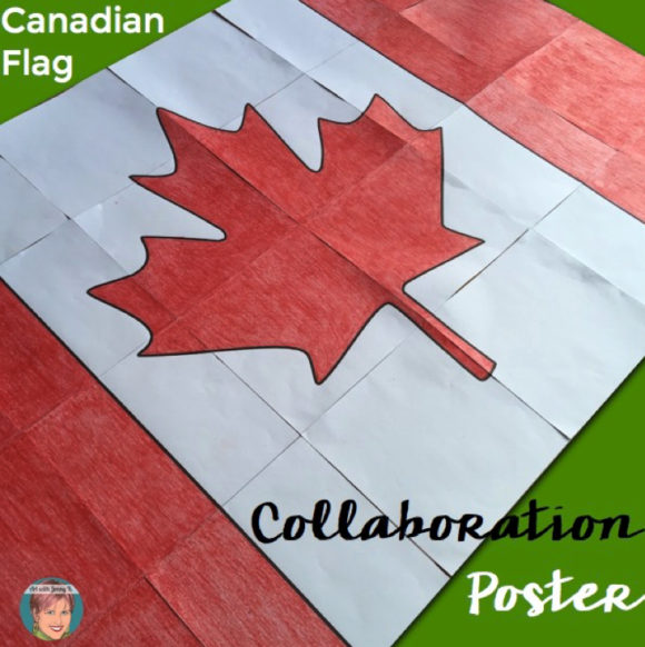 FREE Canadian Flag collaboration poster - great for Remembrance Day.