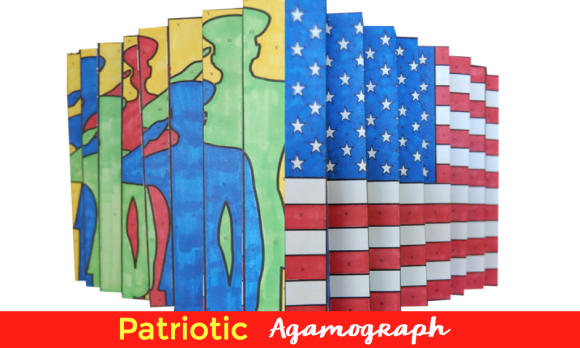 Patriotic Agamograph makes the perfect art project for kids for Memorial Day, Independence Day or Veterans Day.