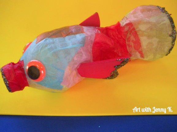 Recycled Water Bottle Fish Art With Jenny K