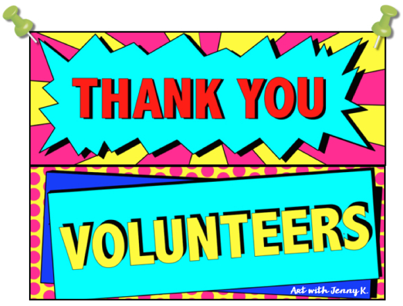 free volunteers poster art with jenny k