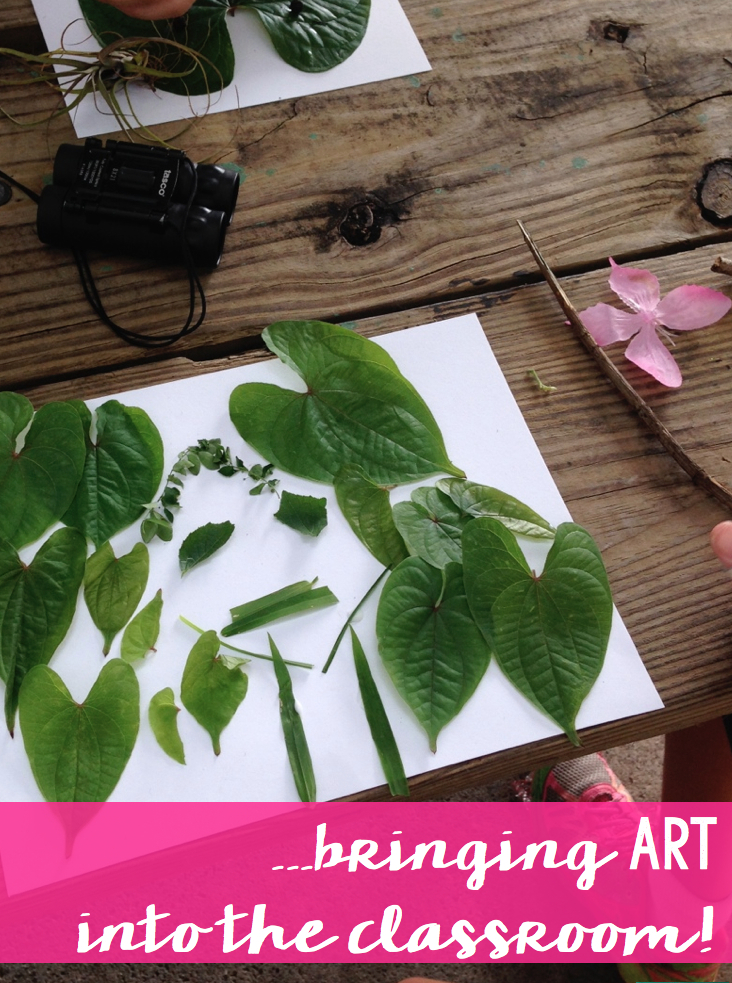 bringing art into the classroom with nature