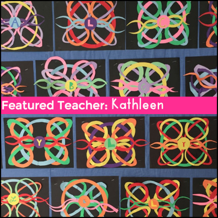 Featured teachers making art in the classroom.