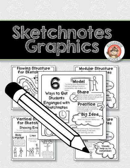 sketchnotes freebie from Expressive Monkey