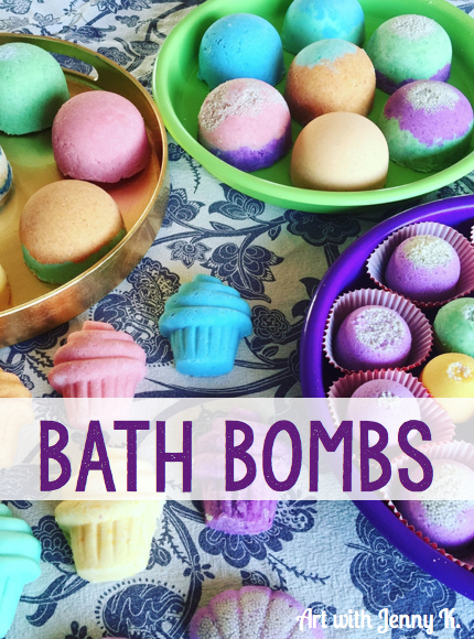Make your own bath bombs with home ingredients.001
