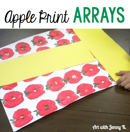 Math and art - apple print arrays