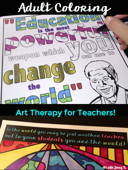 FREE Adult Coloring Pages for Teachers. Adult coloring books - therapy for teachers!