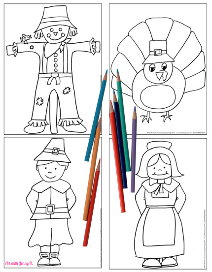 Free Thanksgiving Coloring Sheets.