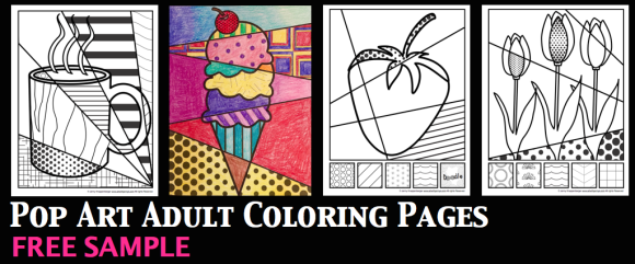 free adult coloring page pop art style if you havent given an adult