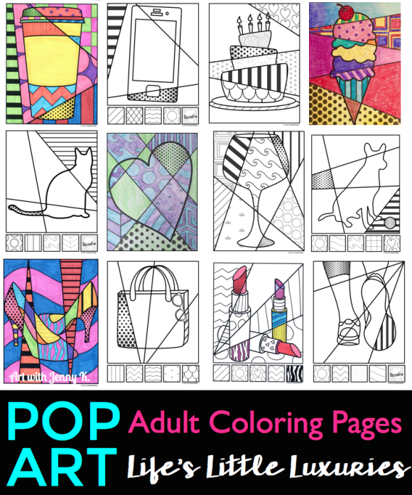 Life\'s Little Luxuries - Adult Coloring Book - Art with Jenny K