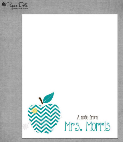 Personalized stationary - great teacher gift idea!