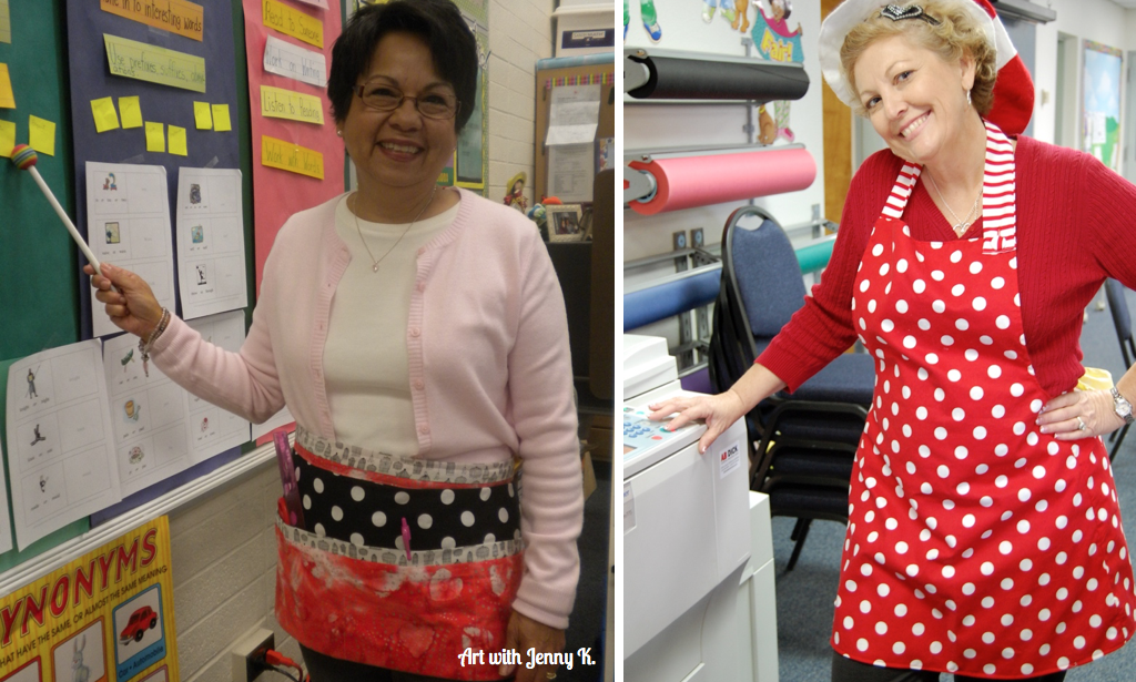 Teacher gift ideas. A cute apron!