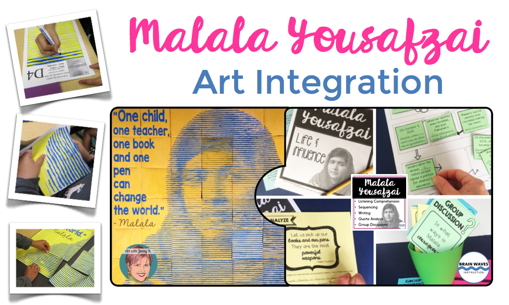 Malala art integration project.