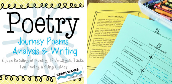 Poetry resources from Brain Waves Instruction.