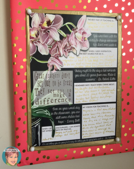 FREE: Vision poster for inspired teaching from Art with Jenny K. and Angela Watson.