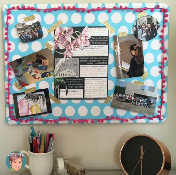 FREE: Vision poster for inspired teaching from Art with Jenny K. and Angela Watson. Create a vision board to help motive and inspire you - use this poster along with photographs, letters from students and other personal motivators!