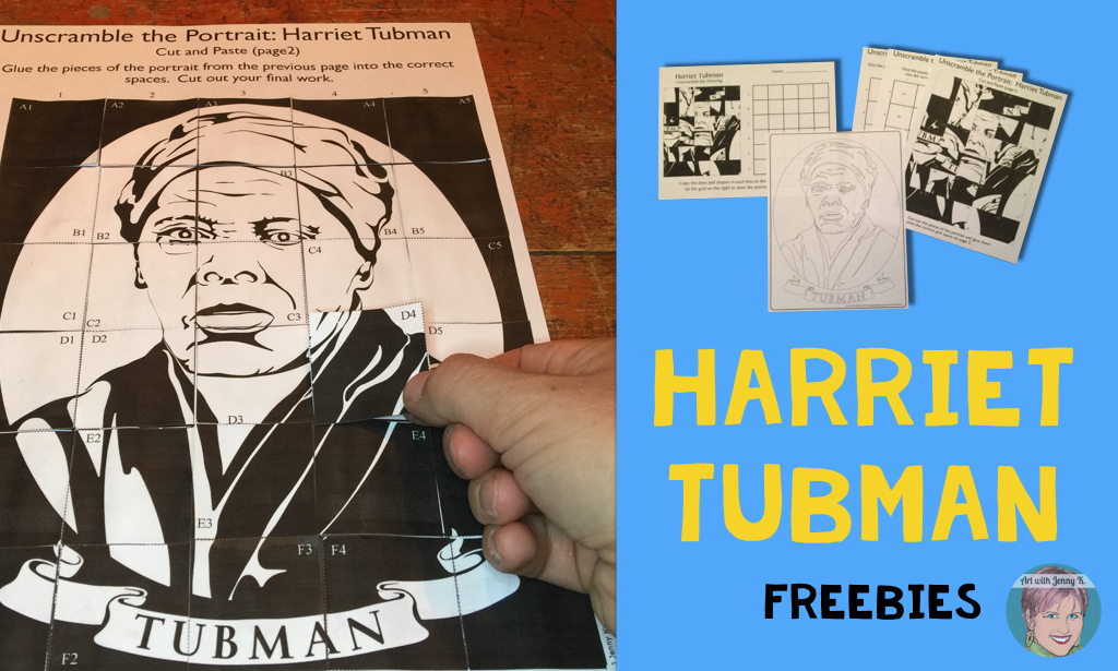 FREE Harriet Tubman Activity from Art with Jenny K.