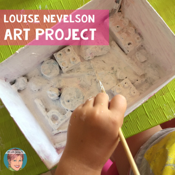 Louise Nevelson art project. This activity is great for pre-school age children. Wonderful for homeschool parents as well.