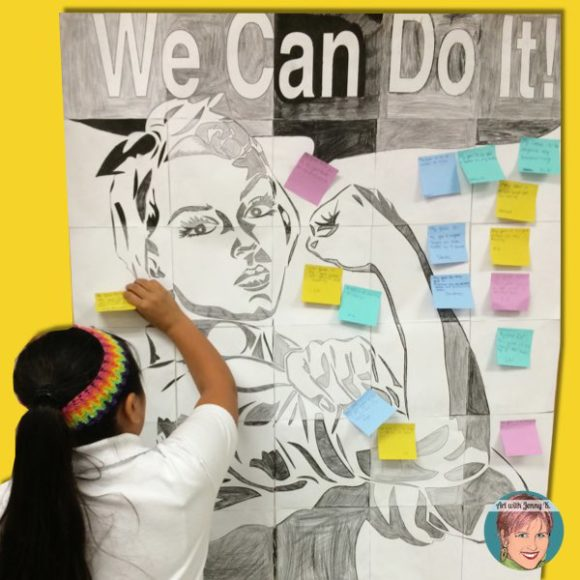 "Great project for growth mindset lessons, units and classrooms using the ""We Can Do It"" image as inspiration."