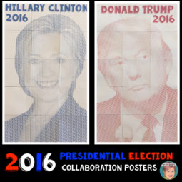 2016 Presidential election art project for teachers.