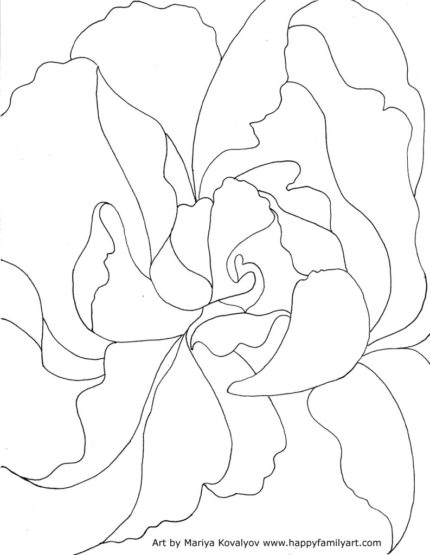Happy Family Art: Free Georgia O'Keeffe coloring page.