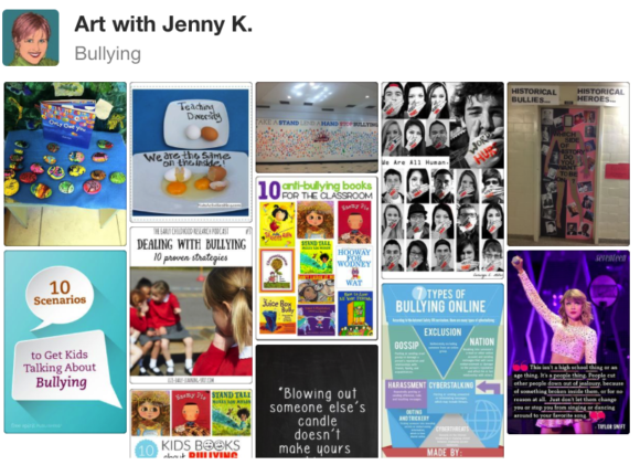Art with Jenny K's Bullying Pinterest Board.