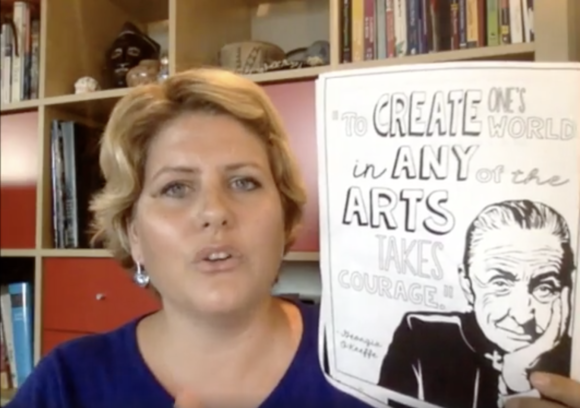 Art with Jenny K. Facebook Live: All About Georgia O'Keeffe.