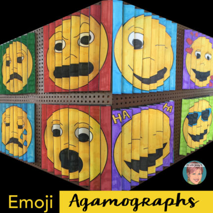 Emoji Agamographs with Jenny K. full instructions on creating your own step-by-step.