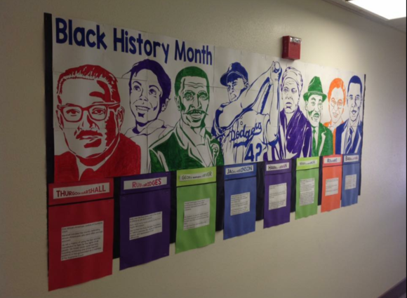 Black History Month Famous Faces collaboration poster. From Art with Jenny K.