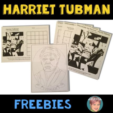 Free Harriet Tubman activity for teachers and students.