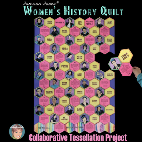 Art with Jenny K Women's History quilt.