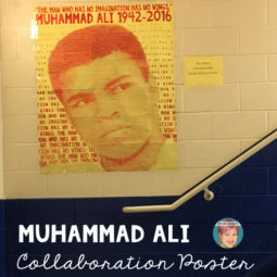 Muhammad Ali art project for the classroom. Teachers use this unique art project in your classroom to help students learn more about and honor the boxer Muhammad Ali. Students will love making art in the class in such a meaningful way.