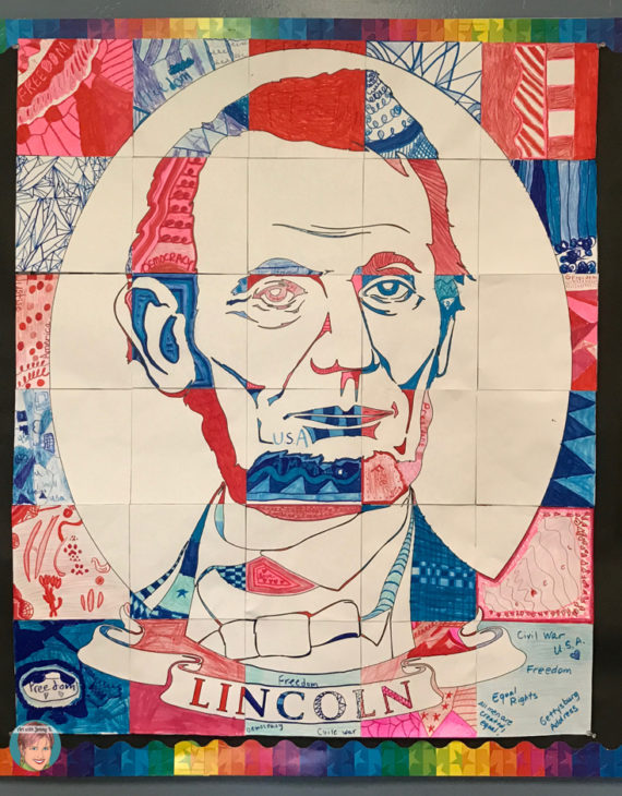 Abraham Lincoln collaboration poster.