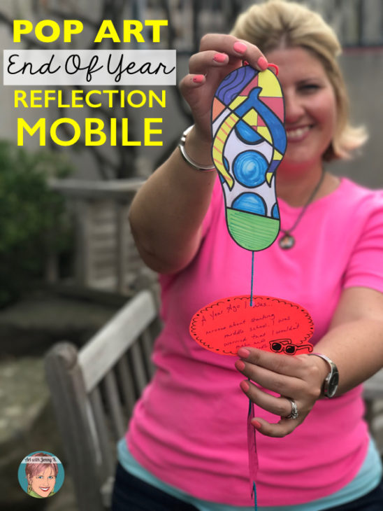 Free Flip Flop mobile - great end of the year activity for teachers and students!